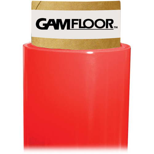 """Gam GamFloor Roll (48"""" x 50' / 1.2 x 15.2 m), (Gloss Red Carpet)"""