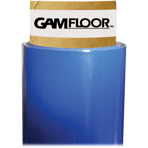 "Gam GamFloor Roll (48"" x 50' / 1.2 x 15.2 m), (Gloss Deep Blue)"