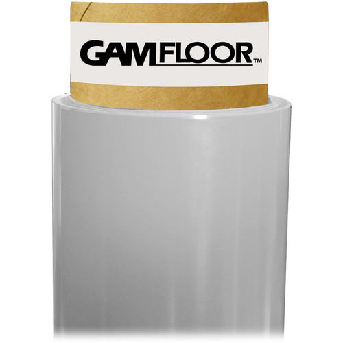"Gam GamFloor Roll (48"" x 50' / 1.2 x 15.2 m), (Matte Clear - Frosted)"
