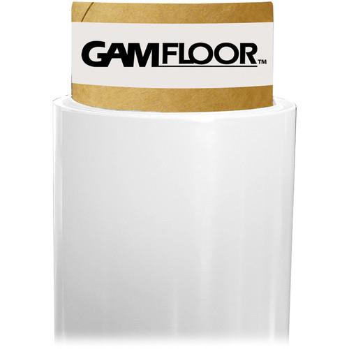 """Gam GamFloor Roll (48"""" x 50' / 1.2 x 15.2 m), (Matte Flat White)"""
