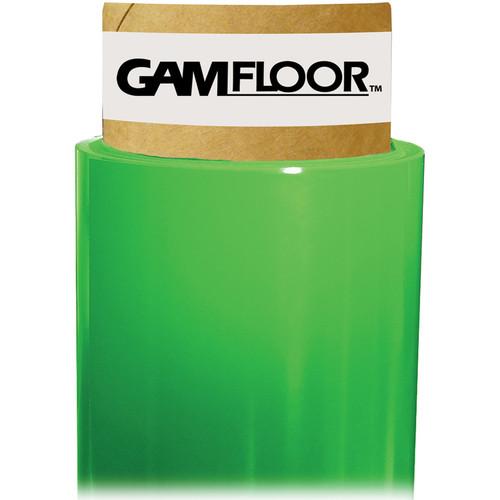 """Gam GamFloor Roll (48"""" x 50' / 1.2 x 15.2 m), (Matte Green - Chromakey)"""