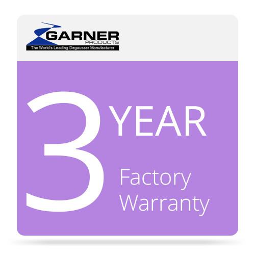 Garner 3-Year Factory Warranty for DDR-1 Degausser & Physical Destroyer