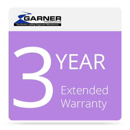 Garner 3-Year Extended Warranty for HD-2 Hard Drive & Tape Degausser