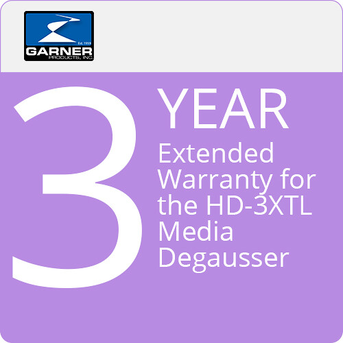 Garner 3-Year Extended Warranty for the HD-3 Media Degausser