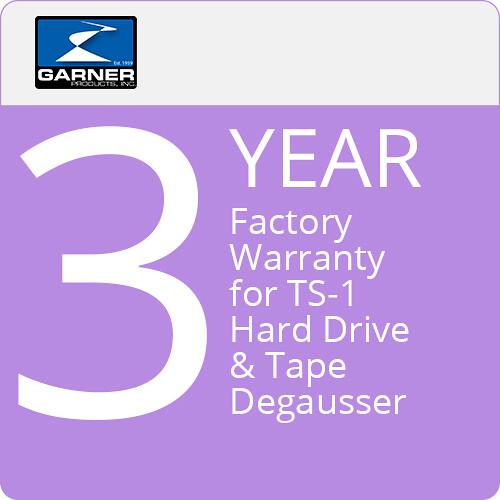 Garner 3-Year Factory Warranty for TS-1 Hard Drive & Tape Degausser