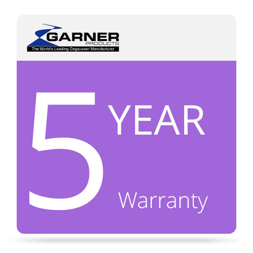 Garner 5-Year Factory Warranty for HD-2 Hard Drive and Tape Degausser