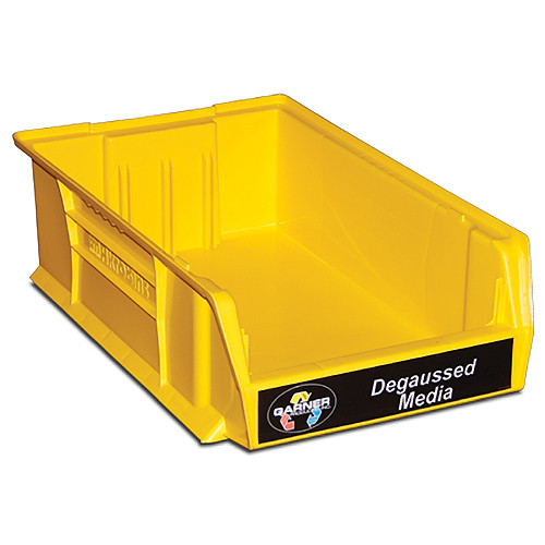 "Garner Yellow ""Degaussed Media"" Bin for HD-3WXL"