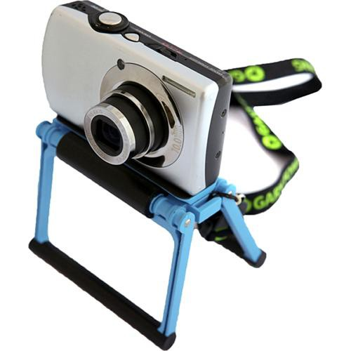 Gary Fong Flip Cage Tabletop Stand for Compact Cameras (Blueberry Blue)