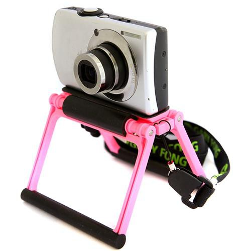 Gary Fong Flip Cage Tabletop Tripod for Compact Cameras (Cotton Candy Pink)