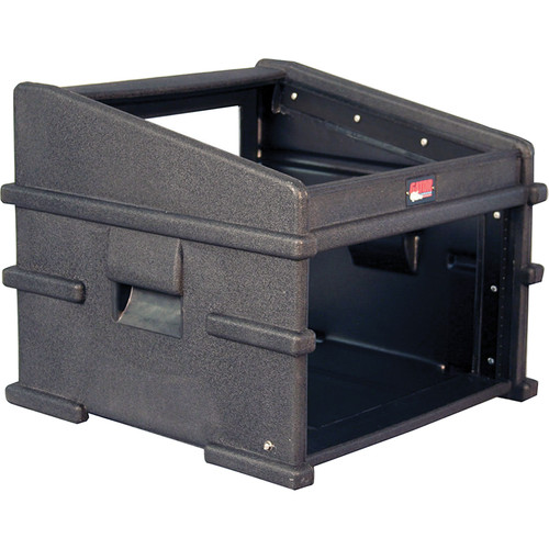Gator Cases GDJ-10X6 Molded PE Slant Top DJ Console Rack Case