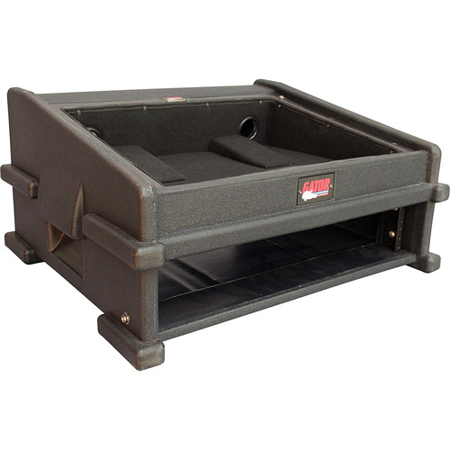 Gator Cases GDJ-8X2 Molded PE Slant Top DJ Console Rack Case