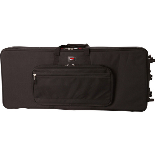 Gator Cases Rigid EPS Foam Lightweight Case with Wheels for Slim 76 Note Keyboards (Black)