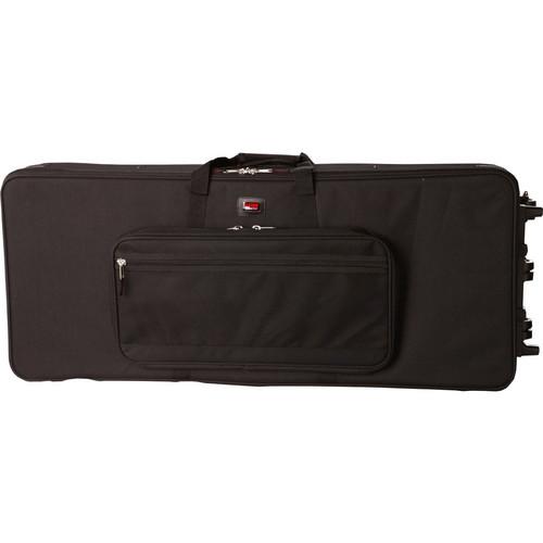 Gator Cases Rigid EPS Foam Lightweight Case with Wheels for Slim 76 Note Keyboards (Black)