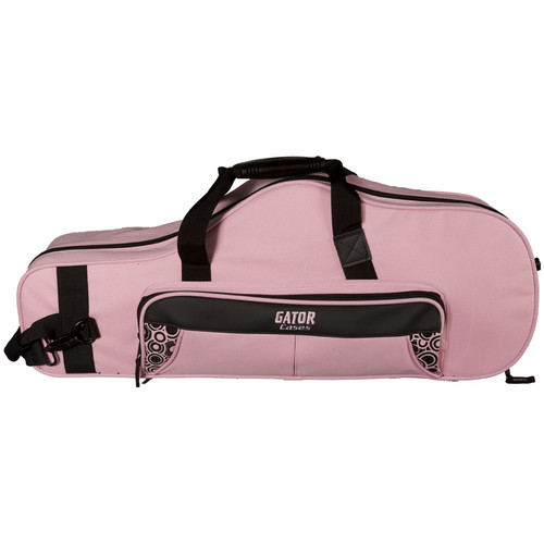 Gator Cases Lightweight Alto Sax Case with Mouthpiece Storage (Pink)