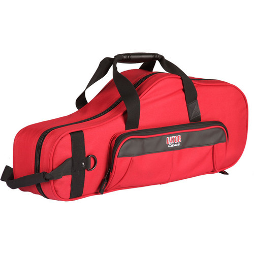 Gator Cases Lightweight Alto Sax Case with Mouthpiece Storage (Red)