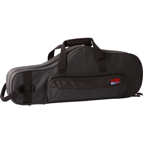 Gator Cases Lightweight Alto Sax Case with Mouthpiece Storage (Black)