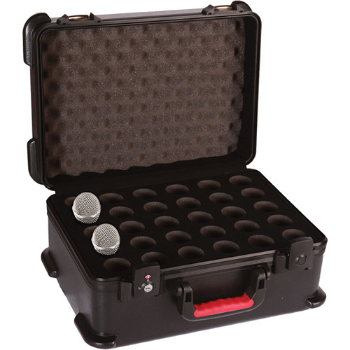 Gator Cases GM-30-TSA ATA Molded Wired Mic Case