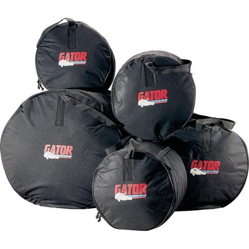 Gator Cases GP-FUSION-100 5-Piece Fusion Drum Set Protechtor Bags (Black)