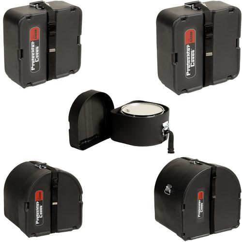 Gator Cases GP-PCSTANDARD Classic Protechtor Series Drum Case Set (Five Cases, Black)