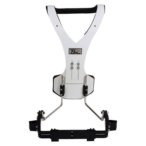 Gator Cases GP-XLC-QS2 Aluminum Vest Quad/Quint Drum Carrier (White)