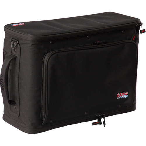 Gator Cases 2U Lightweight Rolling Rack Bag (Black)