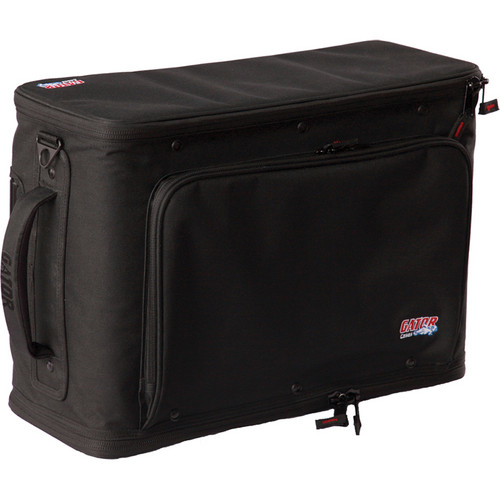 Gator Cases 3U Lightweight Rolling Rack Bag (Black)