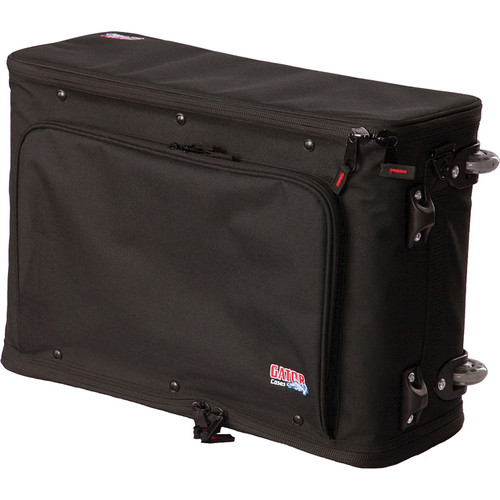 Gator Cases 2U Lightweight Rolling Rack Bag With Laptop Compartment (Black)