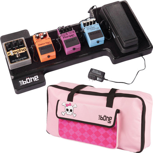 Gator Cases G-Bone Pedal Board with Carry Bag and Power Supply (Goth Pink)