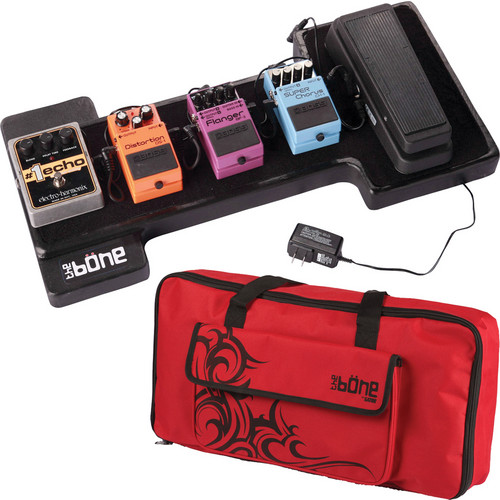 Gator Cases G-Bone Pedal Board with Carry Bag and Power Supply (Tribe Red)