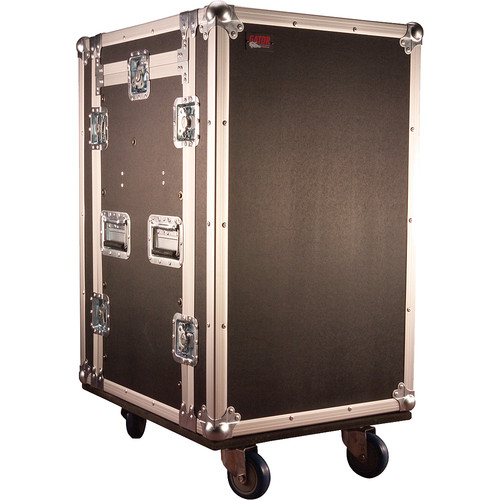 Gator Cases G-TOUR 10X12 PU Pop-Up Console Rack Case - 10 Space Top and 12 Space Front and Rear Rackable Audio Equipment