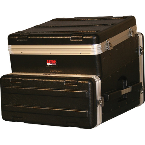 Gator Cases ATA Console Wood Flight Rack Case; 10U Top; 4U Bottom (Black)