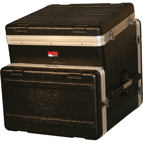 Gator Cases ATA Console Wood Flight Rack Case; 10U Top; 6U Bottom (Black)