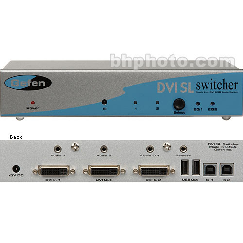 Gefen EXT-DVI-241SL 2x1 DVI SL Switcher (Single-Link DVI)
