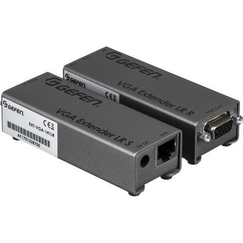 Gefen VGA-141LR VGA Video Extender LR, Sender With Receiver - Transfers Signals Over Network Cables
