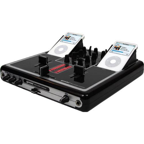 Gemini iTrax Dual iPod Mixing Station and DJ Mixer (Black)
