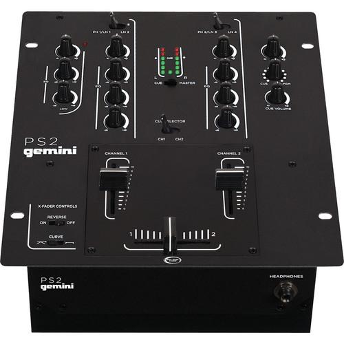 Gemini PS2 2-Channel Stereo DJ Mixer