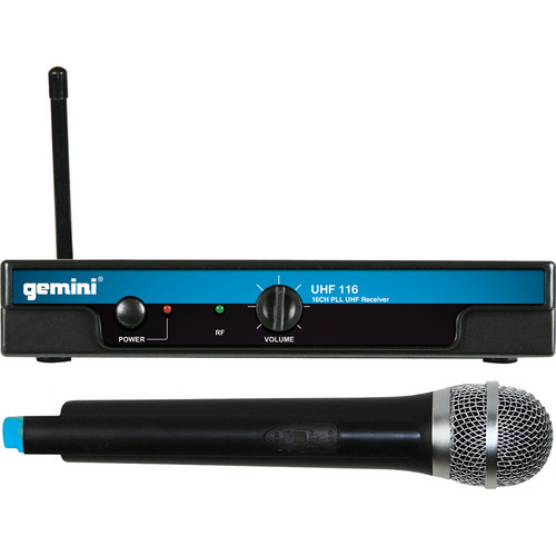 Gemini UHF-116M Wireless Handheld Microphone System