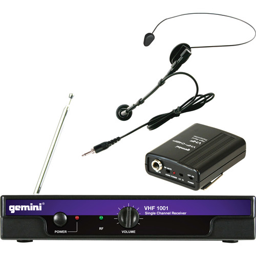 Gemini VHF-1001HL VHF Wireless Headset & Lavalier Combo System