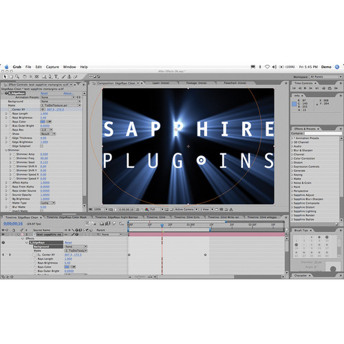 Genarts Sapphire 7 Plug-in for Adobe After Effects (Upgrade)