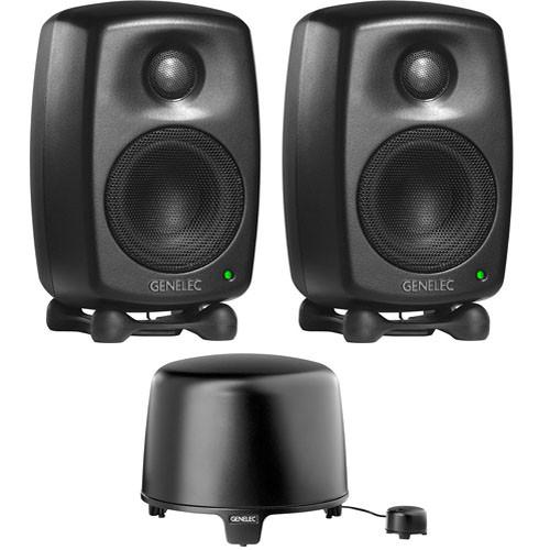 Genelec 6010 StereoPak Nearfield 2.1 Stereo Speaker System (Mystic Black)