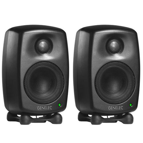 Genelec 6010AMM Bi-Amplified Nearfield Monitor Speaker (Pair, Mystic Black)