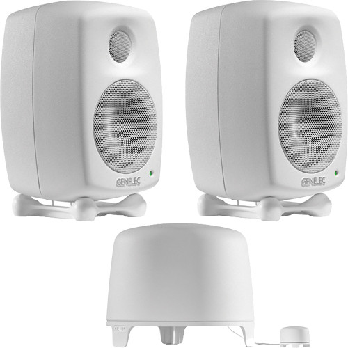 Genelec 6010 StereoPak Nearfield Speaker System (White)
