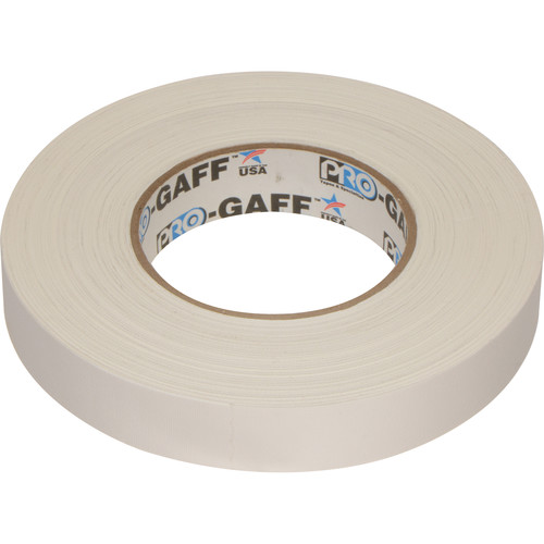"""ProTapes Pro Gaffer Tape (1"""" x 55 yd, White)"""