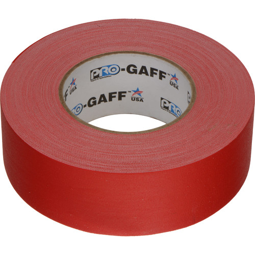 """ProTapes Pro Gaffer Tape (2"""" x 55 yd, Red)"""