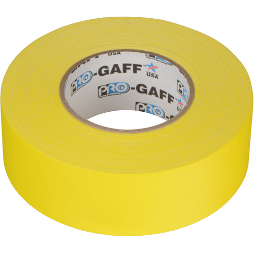 """ProTapes Pro Gaffer Tape (2"""" x 55 yd, Yellow)"""
