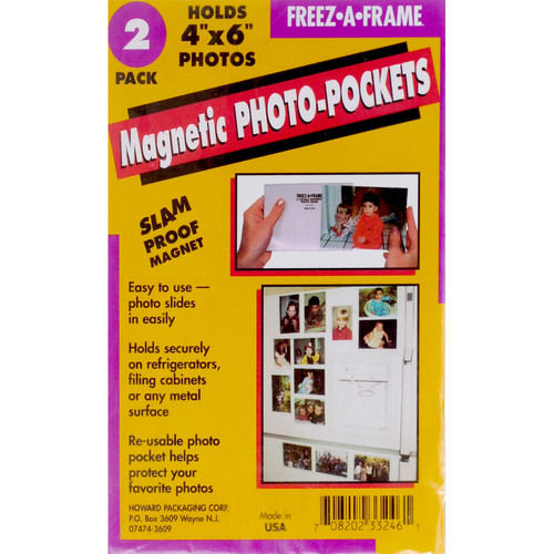 "FREEZE-A-FRAME Magnetic Photo Pockets (4 x 6"", 2-Pack)"