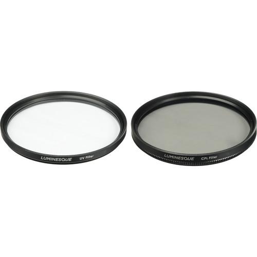 Luminesque 77mm UV and Circular Polarizer Multi Coated Pro Filter Kit