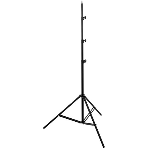 General Brand Air-Cushioned Light Stand (Black,10')