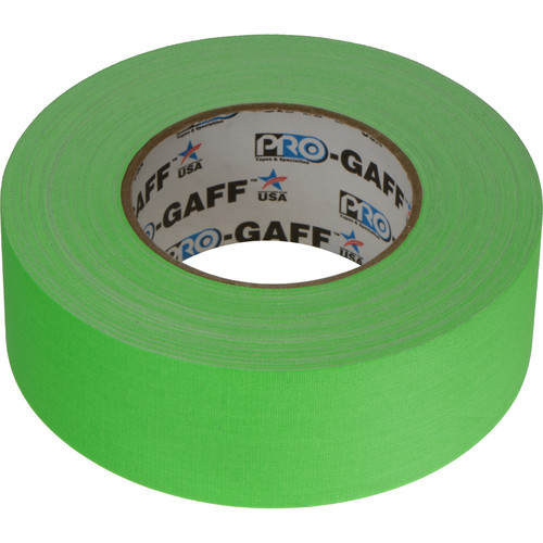 """ProTapes Pro Gaffer Tape - 2"""" x 50 yd (Fluorescent Green)"""