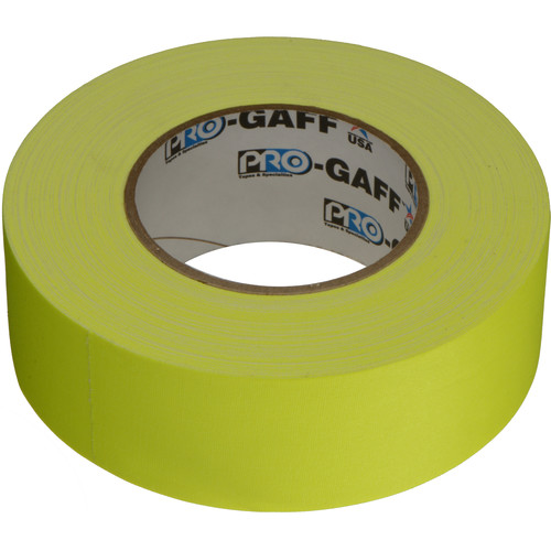 "ProTapes Pro Gaffer Tape - 2"" x 50 yd (Fluorescent Yellow)"